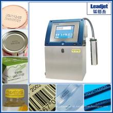 Impressora de alta velocidade da data da expiração da garrafa de água do Inkjet de Wuhan Leadjet