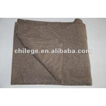 100% Kaschmir gestrickte feste / einfache Decken / Bettwürfe