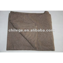 100%cashmere knitted solid/plain blankets/bed throws