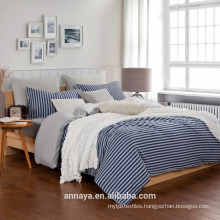 Muji styles-100% cotton knitting bedding set with stripes