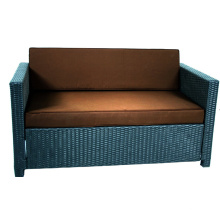 Mobília ao ar livre do Rattan barato Loveseat sofá