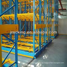 Ahorre en costos y espacio en los bastidores, Jracking Almacén de alta densidad tienda eléctrica móvil Sistema de estantería de 2ª mano