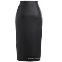 Kate Kasin Sexy Mujer De Cuero Sintético Alta Split Hips-Wrapped Falda De Lápiz KK000602-1