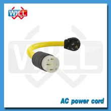 UL CUL 50A 125V/250V NEMA 10-50P 10-50R power cord