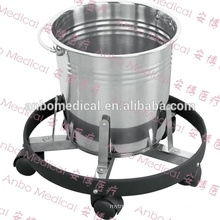 high quality Stainless Steel Medical Kick Bucket with bumper