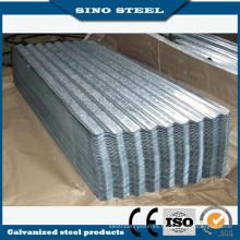Hoja de acero acanalada galvanizada barata de los materiales de techumbre en China