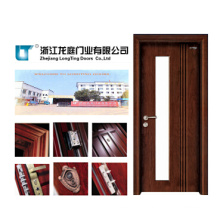 Entrance Solid Wooden Door with Glass (LTS-203)