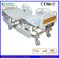 China Supply Luxury ABS Guardrail Manual 3-Function Adjustable Medical Bed