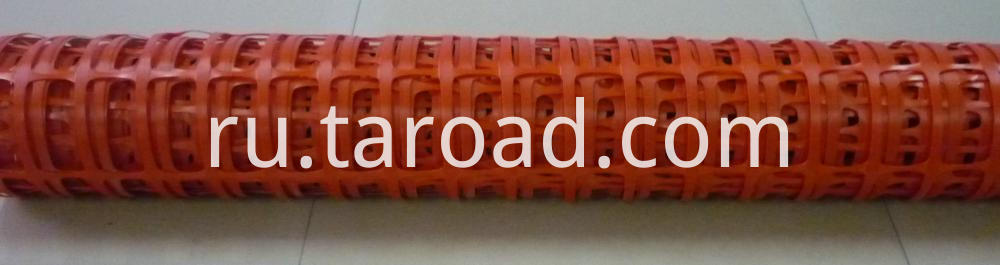 HDPE orange plastic safety fence