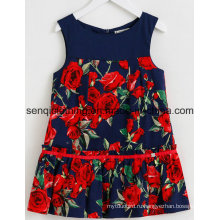 Мода девушка платье платье в Детская одежда с платье одежда