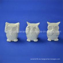 Cerámica Owl Samll Figurines Decoración