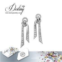 Faire un nœud destin bijoux cristaux de Swarovski boucles d'oreilles Boucles d'oreilles