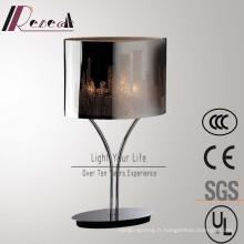 Lampe de table d'ombre de découpage en acier inoxydable décorative classique d'hôtel