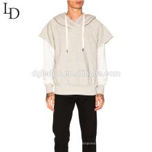 Новый дизайн серый с капюшоном толстовка мужской пуловер с капюшоном с карманами