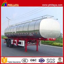 El remolque del petrolero del combustible del acero inoxidable de Tri Axle de las diversas capacidades
