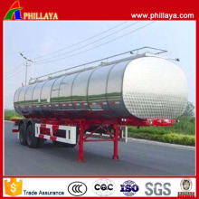 Various Capacities Tri Axle Stainless Steel Fuel Tanker Semi Trailer