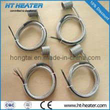 Aquecedor de bobina de canal quente para prego de titânio