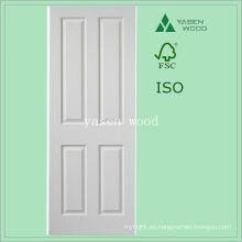 Puerta de madera del panel blanco del MDF interior contemporáneo