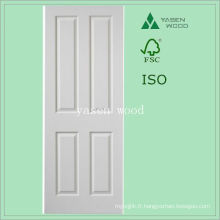 Porte en bois de panneau blanc MDF intérieur contemporain
