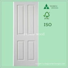 Современный интерьер белой панелью МДФ деревянные двери