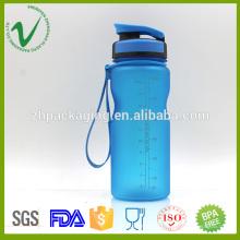 BPA libre de deporte vacía botella de plástico azul para el embalaje de agua