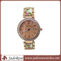 Mode große Zifferblatt Uhr mit bedrucktem Armband