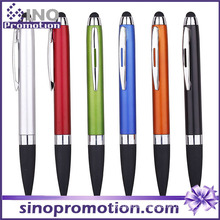 Metal Luster Rubber Tip Click Ballpoint Pen with Clip
