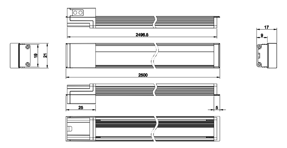 DC12V LED Cabinet Recess Mount Light Bar