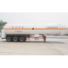 Lpg Transport Semi Trailer Heat Insulation , Tri Axle Trailer