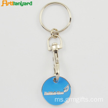 Customized Embossed Keychain syiling troli