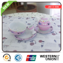6ST Porzellan Geschirr für Kinder
