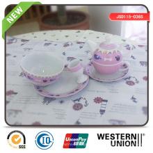 Louça de porcelana 6PCS para crianças
