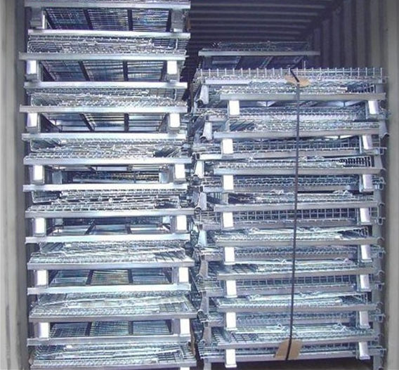 Folding Galvanized Storage Cage