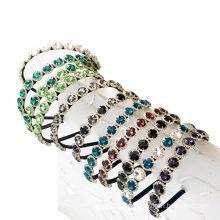 Bandeau fascia per capelli Rhinestone Alloy Headband Luxury Hair Accessories Korean Baroque Wedding Hairband Vintage for Women Girl Gift Dropshipping