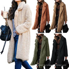 Cheapest Product 2021 Warm Thick Fur Coats for Woman Trendy Winter Coat for Women Long Coat