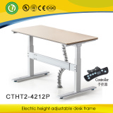 desk with electric lifting frame