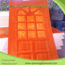 Contreplaqué coloré de peau de porte de papier de polyuréthane du type 9614 HPL