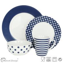 16PCS Decal Porcelain Dinner Set Mode Style