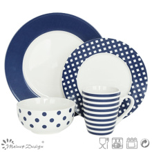 16PCS Decal Porcelain Dinner Set Fashion Style