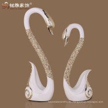 guangzhou arte y sala de artesanía decoración de interiores cisne hermosa figura para la decoración de salón