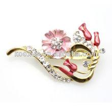 Alloy brooch,fashion brooch, rhinestone brooch