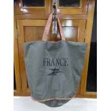 France Grey Shopping Bag