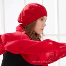 Chapéu de caxemira de boina estilo francês feminino