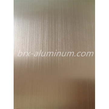 Anodized Brushed Champagne Aluminum Decorative Sheet