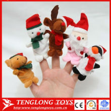 Christmas mini and animal shaped plush finger puppet toy