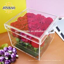 Caixa de armazenamento de acrílico transparente Jinbao 3mm 5mm