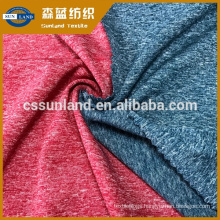 latest trend knitting melange polyester rugby jersey fabric for T shirt