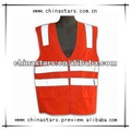 red high visibility reflective safety vest