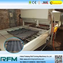 Máquina revestida de pedra, máquina de formação de rolo de telha de revestimento de pedra