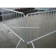 2.3m Barrera de control de multitud de pierna fija / barricadas peatonales específicamente diseñadas y fabricadas